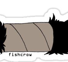 fishcrow paper roll Sticker