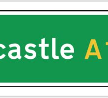 Newcastle, Road Sign, UK  Sticker