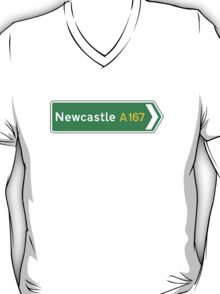 Newcastle, Road Sign, UK  T-Shirt