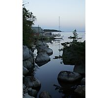 Sailboat at dusk Photographic Print