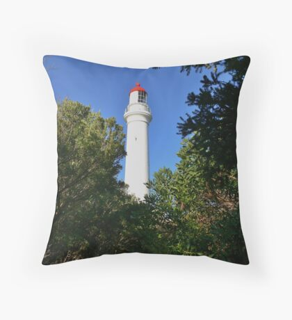 Aireys Inlet - Red Cap Throw Pillow