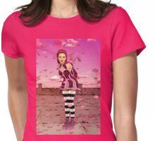 Pink Sakura - Anime Girl Womens Fitted T-Shirt