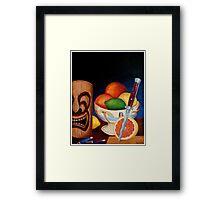 Grapefruit with Italian switchblade Framed Print