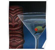 Martini with Tiki Poster