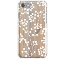 Wooden engraved pattern iPhone Case/Skin