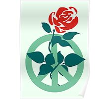 Labour Rose Peace Poster