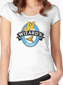 Wizard's Black Women's Fitted Scoop T-Shirt