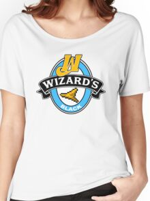 Wizard's Black Women's Relaxed Fit T-Shirt