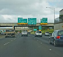 Traveling West on the H-1 Freeway by David Davies