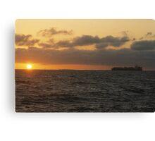 Sun, Sea and Ship Canvas Print