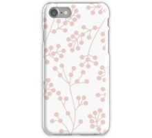 White and lavender botanical pattern iPhone Case/Skin