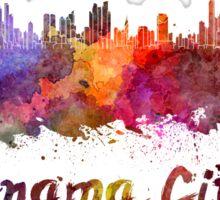 Panama City skyline in watercolor Sticker
