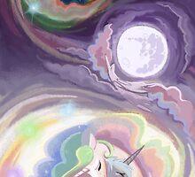 Celestia and Luna Card by Meghan Stockham