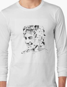 Aaron Swartz Black and White Long Sleeve T-Shirt