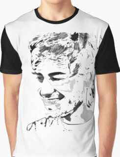 Aaron Swartz Black and White Graphic T-Shirt