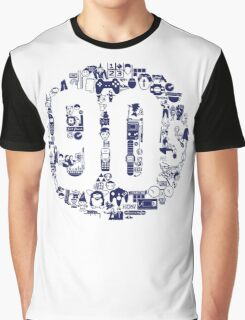 Dark Blue 1990s Graphic T-Shirt