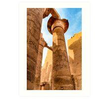 Columns of Karnak Temple - Egypt Art Print