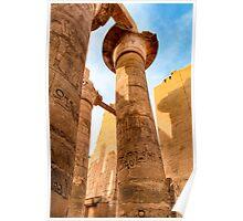 Columns of Karnak Temple - Egypt Poster