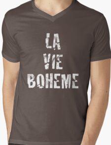 La Vie Boheme - Rent - White Typography design Mens V-Neck T-Shirt