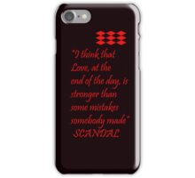 Love and Mistakes iPhone Case/Skin