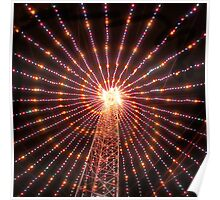 Austin texas abstract Christmas Tree photo Poster