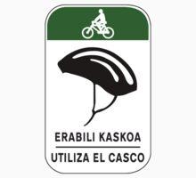 Use The Helmet, Traffic Sign, Spain One Piece - Short Sleeve