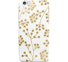 Gold floral pattern iPhone Case/Skin