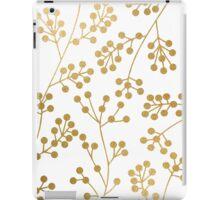 Gold floral pattern iPad Case/Skin