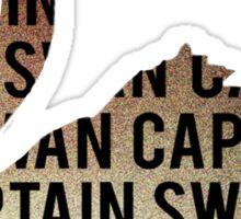 Swanning Sticker