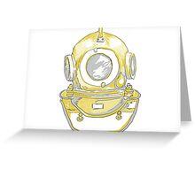 deep sea diver hemet  Greeting Card