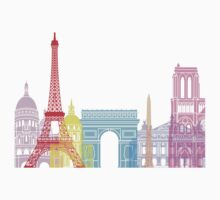 Paris skyline pop One Piece - Short Sleeve
