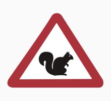 Squirrels Crossing, Traffic Sign, Spain One Piece - Short Sleeve