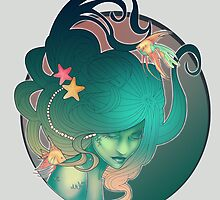 Art Nouveau - Mermaid by Lilly Marie