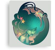 Art Nouveau - Mermaid Canvas Print