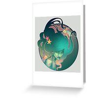 Art Nouveau - Mermaid Greeting Card