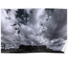 Rocks and Clouds Poster