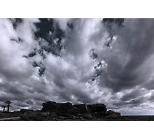 Rocks and Clouds Photographic Print