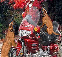 MOTOR CYCLE  & DOGS IPAD CASE CRUSIN by ╰⊰✿ℒᵒᶹᵉ Bonita✿⊱╮ Lalonde✿⊱╮