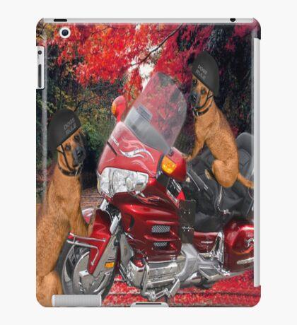 MOTOR CYCLE  & DOGS IPAD CASE CRUSIN iPad Case/Skin