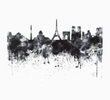 Paris skyline in black watercolor One Piece - Long Sleeve