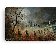 Dwarves heading to Canvas Print