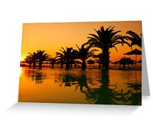 Sunset at Elina Hotel Rhodes Greece Greeting Card