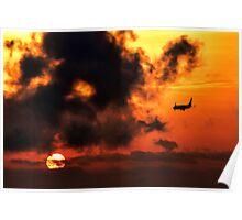 sunset landing Poster