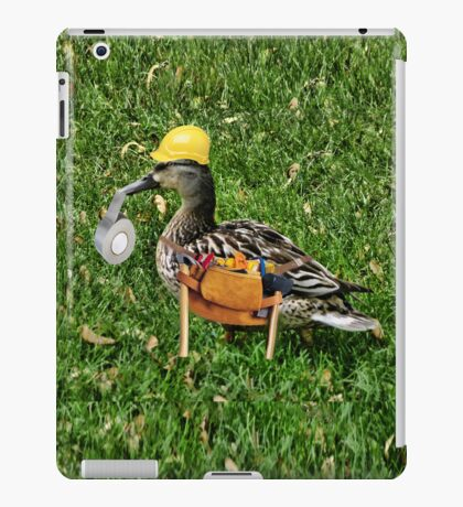 ✾◕‿◕✾ I CAN FIX ANYTHING..WHERE'S THE DUCK TAPE (DUCK IPAD CASE) iPad Case/Skin