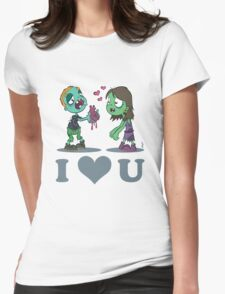 I Heart U : Zombies Womens Fitted T-Shirt
