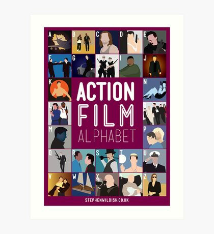 Action Film Alphabet Art Print