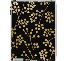 Gold and black floral patern iPad Case/Skin