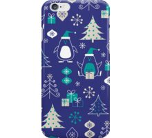 Cute Christmas Penguins Pattern iPhone Case/Skin