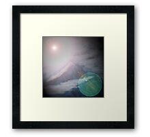 meteor mountain Framed Print