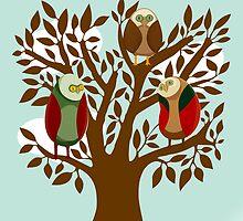 Owl Family by Ignasi Martin